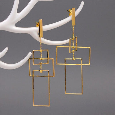 Gold Geometric Earrings | Unique & Trendy Jewellery Online UK