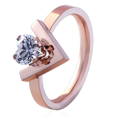 18K Gold Plated Chloe Crystal Ring Cocktail Statement Ring