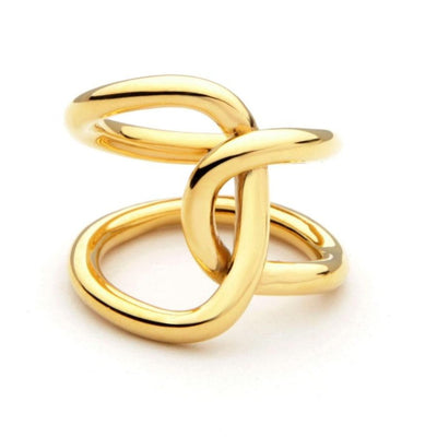 Cocktail Statement Ring Gold Infinity