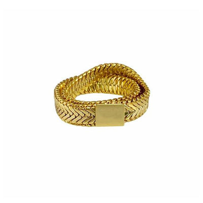 soft snake chain ring