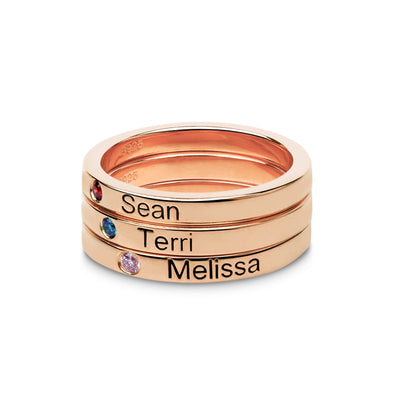 personalized birthstone rings uk
