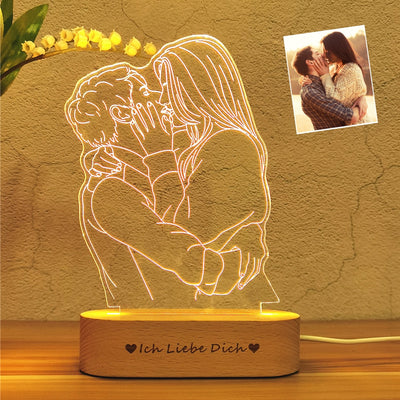 personalised custom 3d night light lamp
