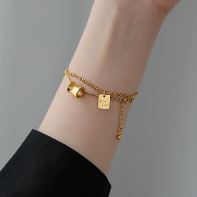 18K Gold Plated Good Luck Charm Bracelet