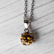 Brown Moissanite Basket 925 Sterling Silver Pendant