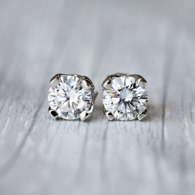 2 Carat IJ Moissanite 925 Sterling Silver Tulip Earrings