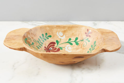 etúHOME Natural with Multicolor Folklore Dough Bowl, Small 1