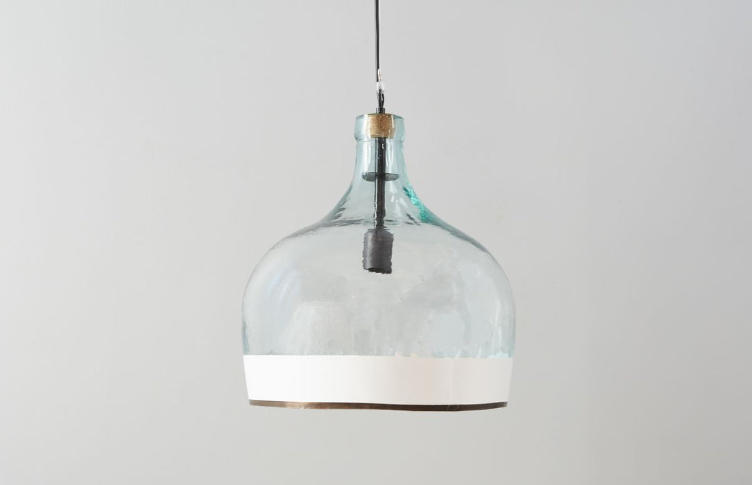 White Colorblock Balon Pendant Wire