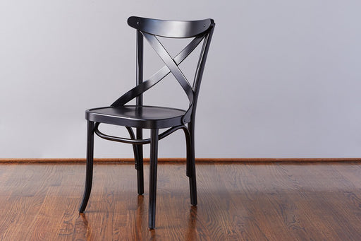 etúHOME French X-Back Cafe Chair, Black 1