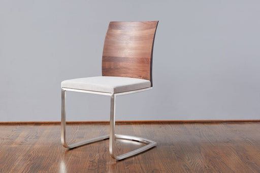 etúHOME Walnut Mod Parsons Chair, Linen 1