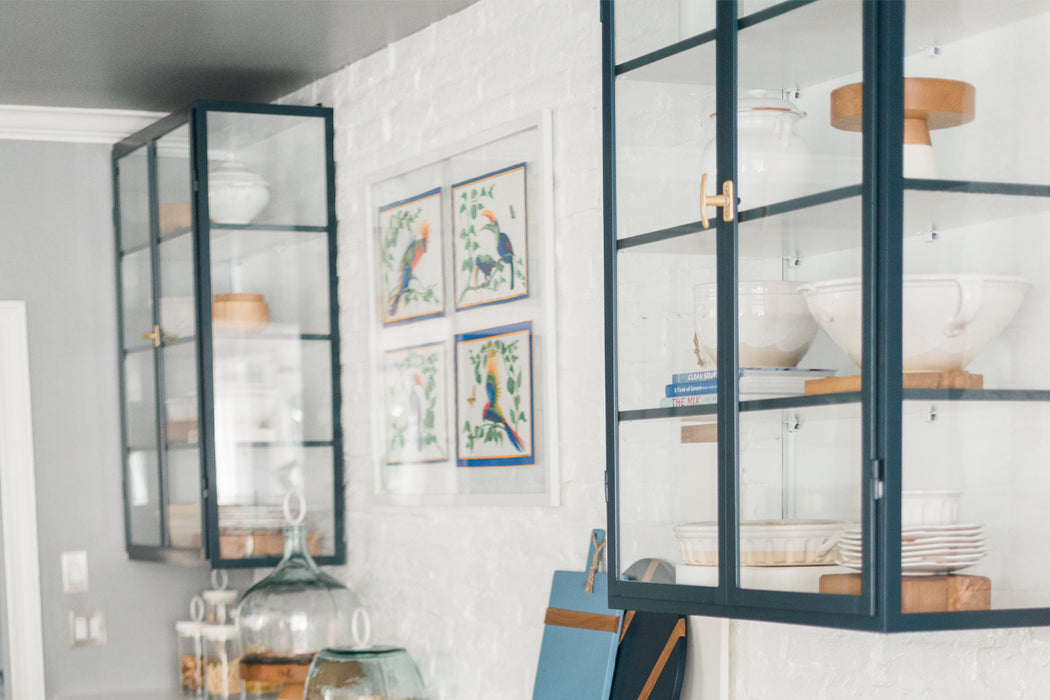 etúHOME Blue Kitchen Glass Display Unit 1