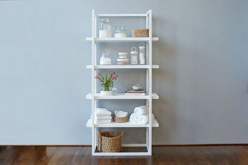 etúHOME Pantry Shelf Unit White with White Shelves 1