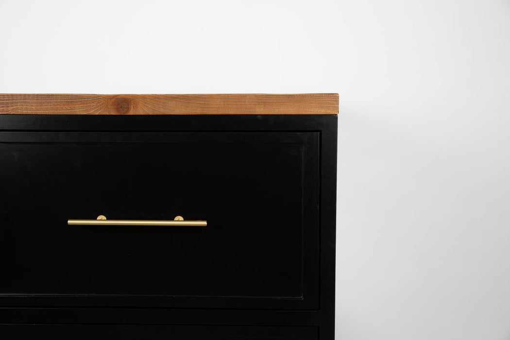 Black Kitchen Hidden Drawer Unit