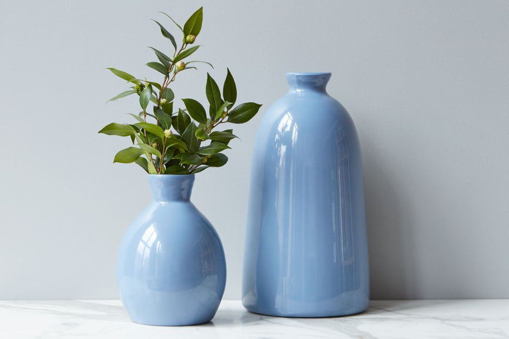 Denim Artisanal Vase, Small