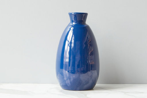 etúHOME Navy Artisanal Vase, Medium 1