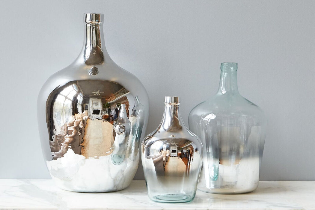 Silver Mirrored Demijohn, Large