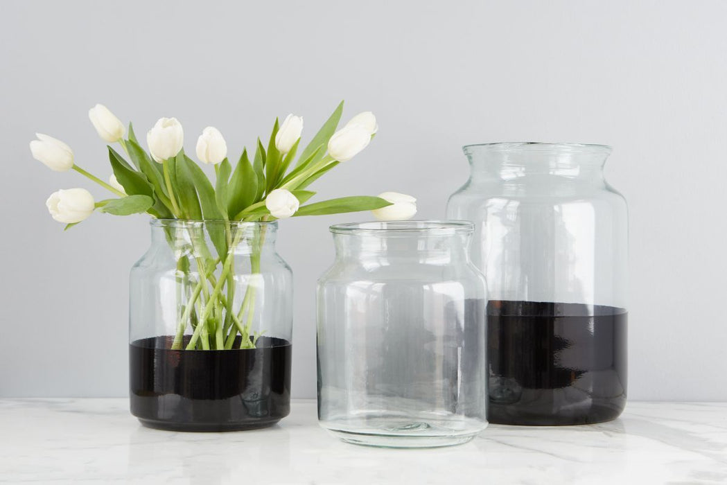 Black Colorblock Mason Jar, Small