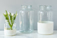 etúHOME White Colorblock Mason Jar, Small 4