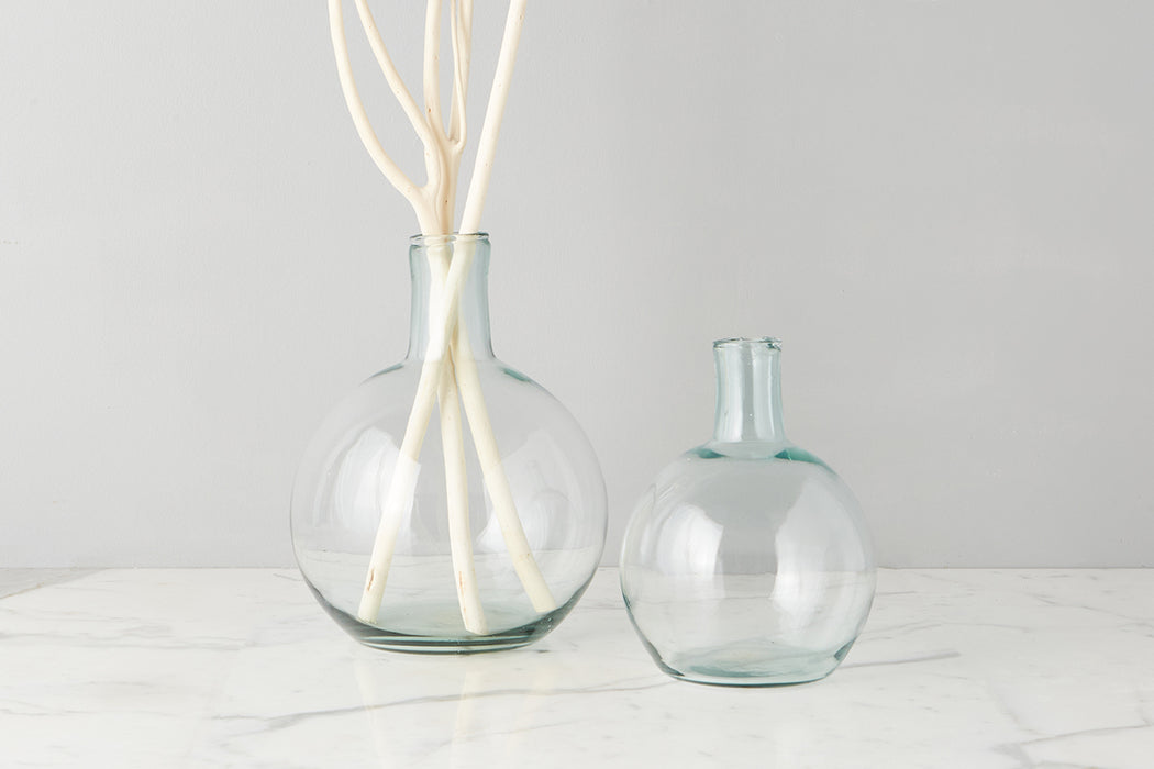 etúHOME Clear Round Bottom Flask Small -2
