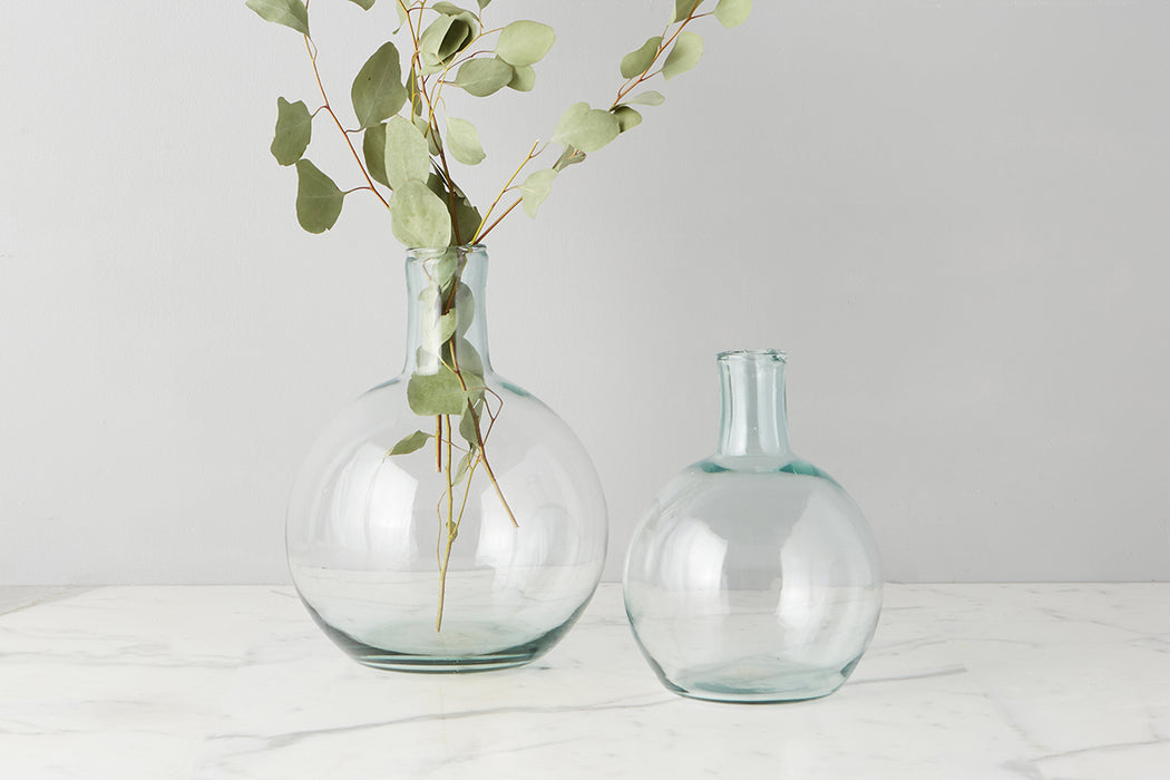etúHOME Clear Round Bottom Flask Small -3