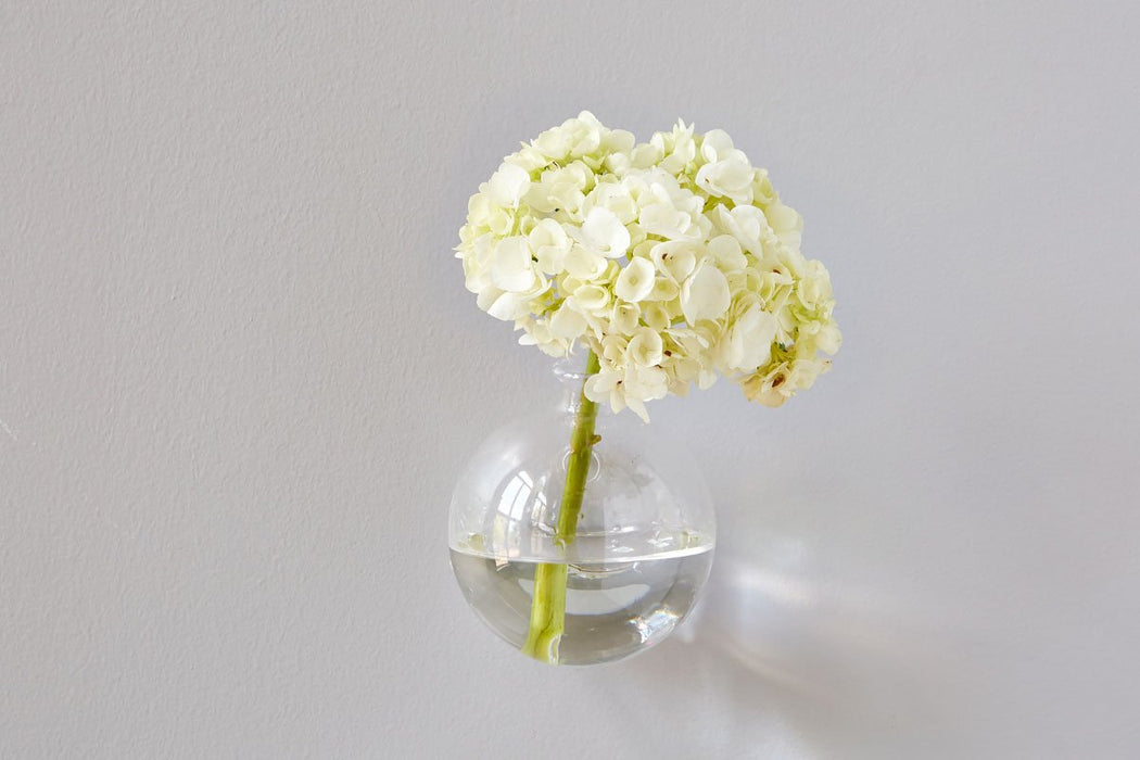 "Wall Hanging Sphere Vase, 4"", Clear"