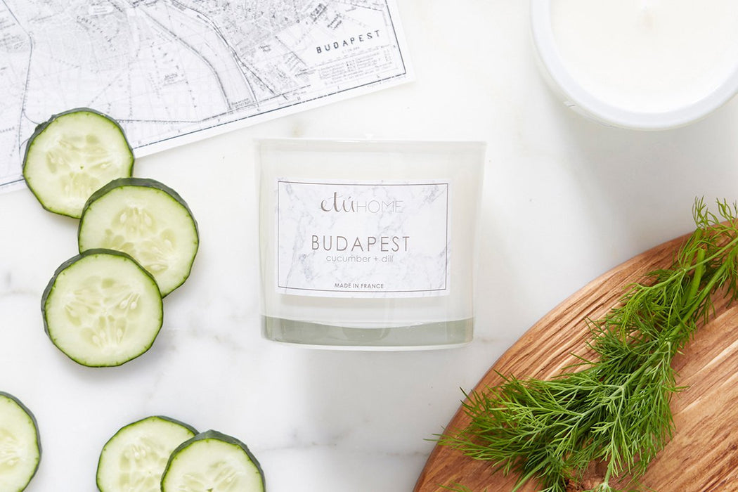 etúHOME Budapest Cucumber and Dill Candle -5