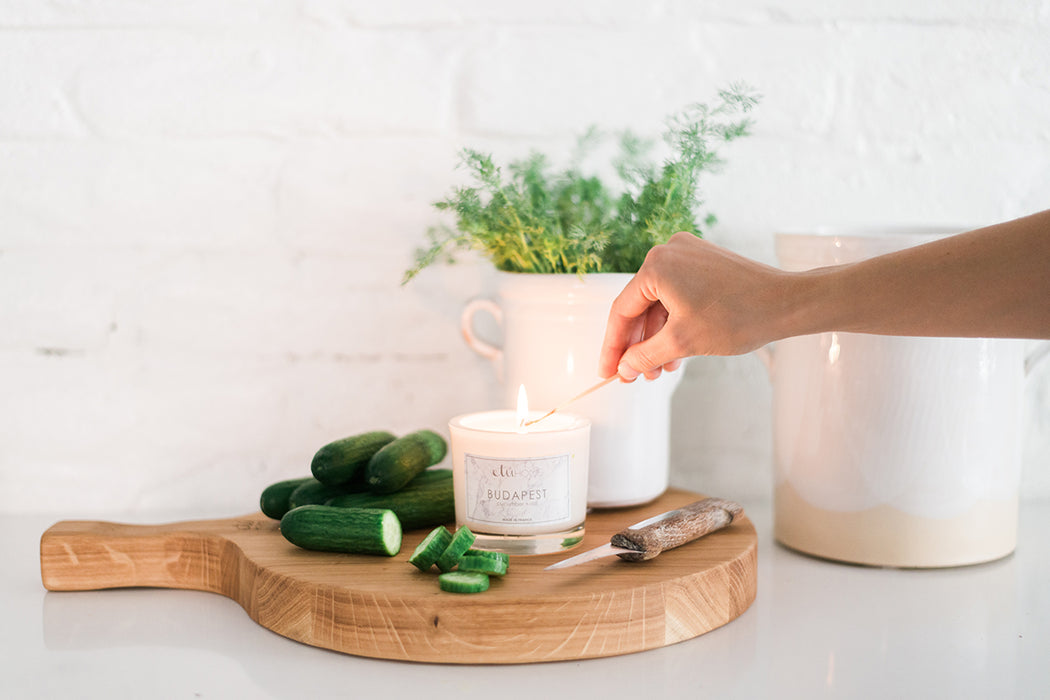 etúHOME Budapest Cucumber and Dill Candle -2