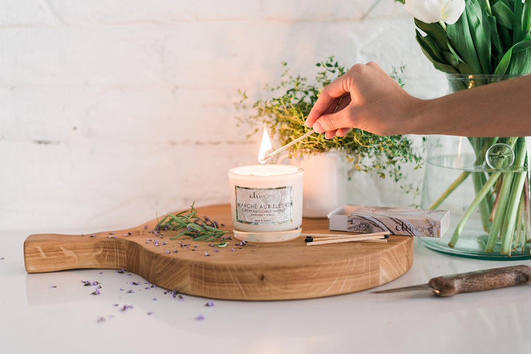 etúHOME Flower Market Lavender and Thyme Candle -2