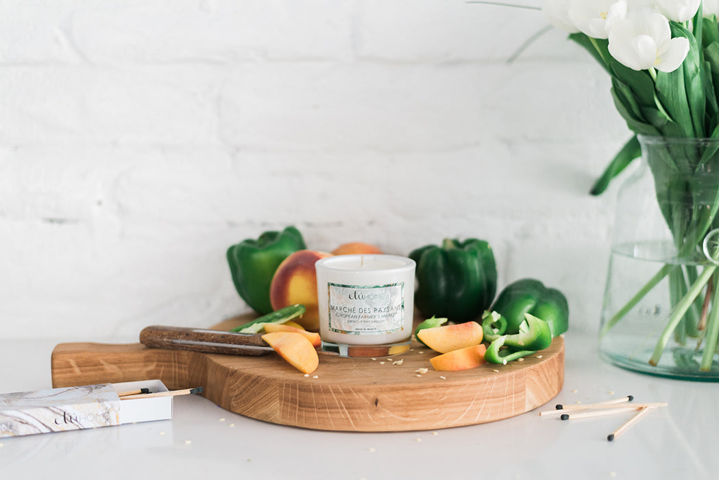 etúHOME Farmers Market Peach and Bell Pepper Candle -1