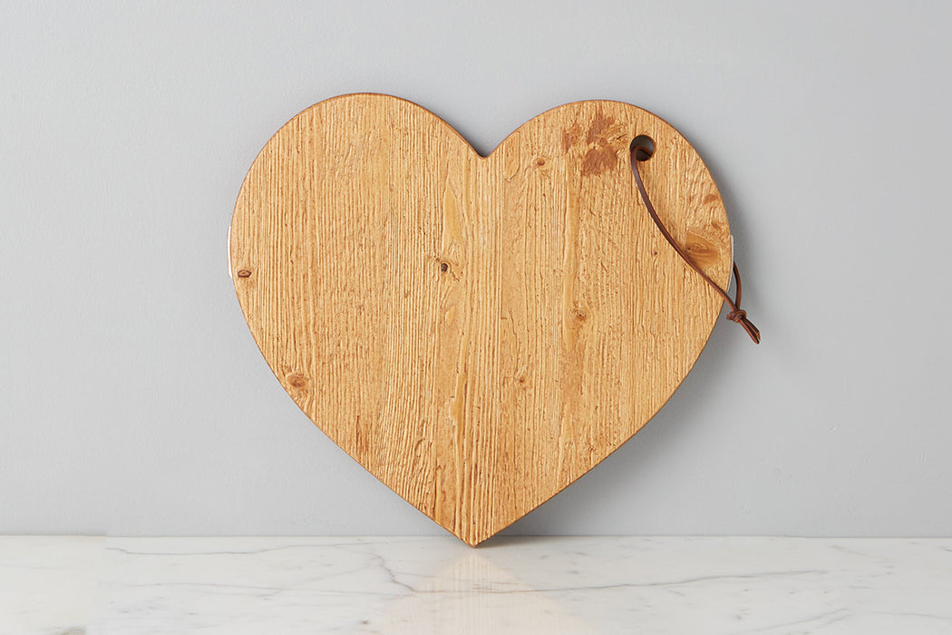 etúHOME Natural Mod Heart Charcuterie Board, Small 2