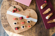 etúHOME Natural Mod Heart Charcuterie Board, Small 7