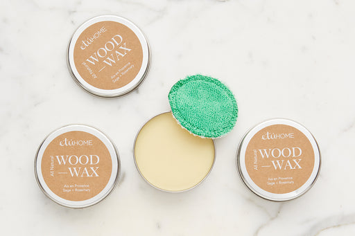 etúHOME Wood Oiling Wax, Aix en Provence Rosemary + Sage 1