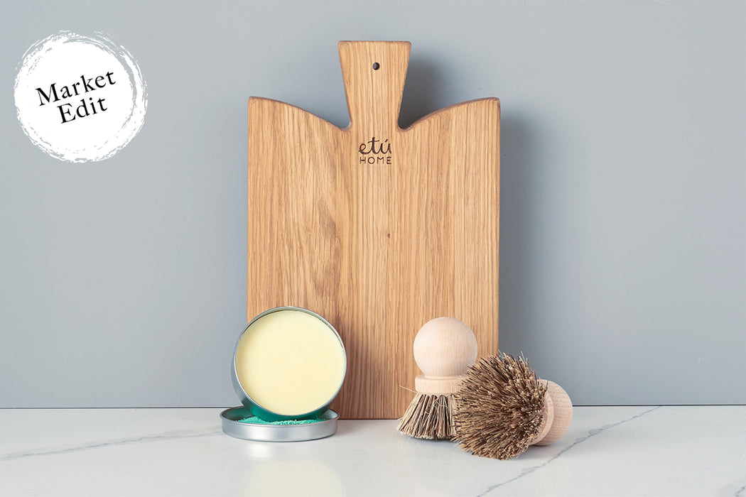 Cutting Board and Brush Set