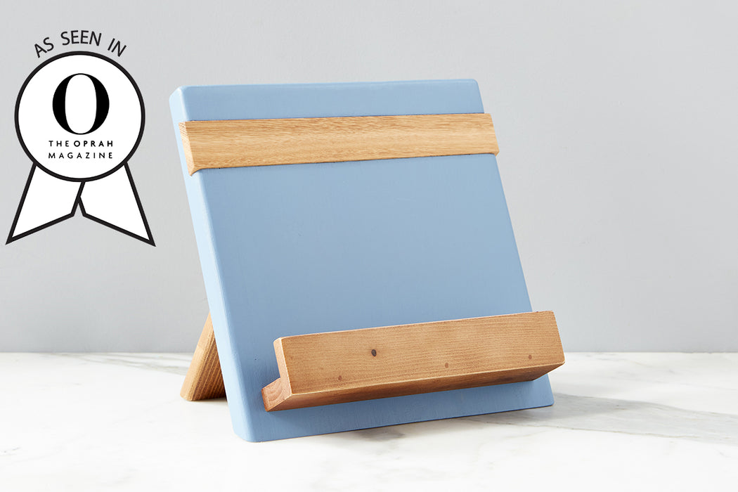 etúHOME Denim Mod iPad / Cookbook Holder - Featured in Oprah Magazine - 1