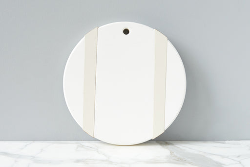 etúHOME X Monika Hibbs White Round Wood Serving Board - 1