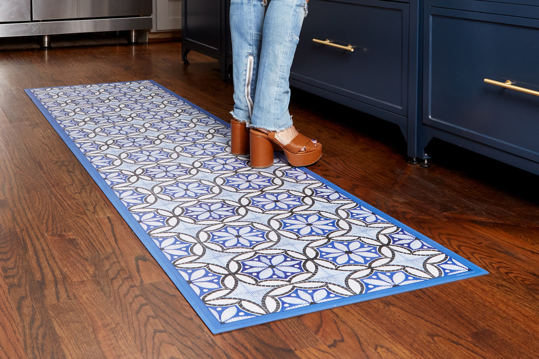 etúHOME Ivory and Denim Caltagrione Rug, Small -4