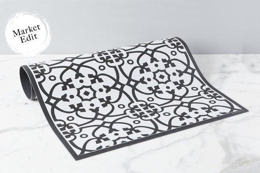 etúHOME Black Liberty Rug, Small -1