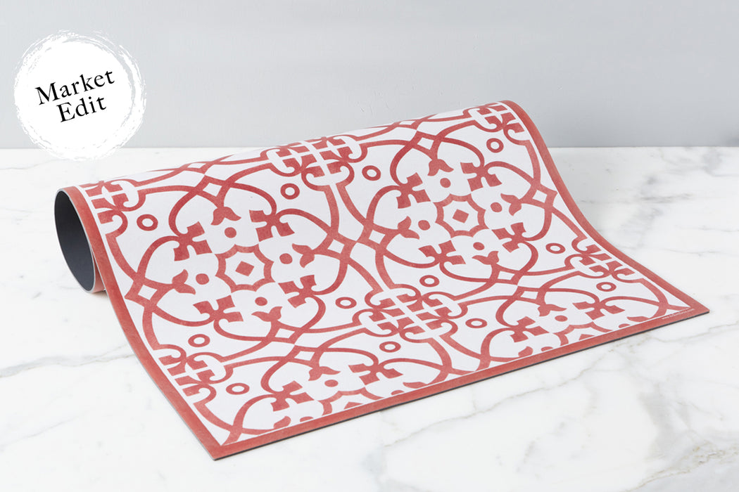etúHOME Red Liberty Rug, Medium -1