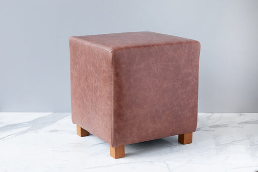 etúHOME Natural Cube Leather Ottoman