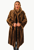 "Vintage 1960's ""New York"" Sheared Raccoon Fur Swing Coat"