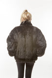 "Vintage Black Opossum ""1980's Gangsta""  Leather Reversible Jacket"