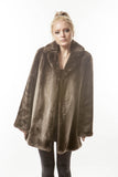 1950's Luxurious Vintage Dyed Brown Ombre Sheared Beaver Fur Coat Medium