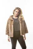 VINTAGE Blonde Pastel Cropped Fur Mink Fur Coat