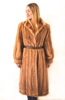 "1960's ""Majestic"" Recycled  Vintage Autumn Haze Full Length Mink Fur Coat"