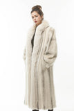 Vintage 1980's Cross Mink White Fox Fur Coat
