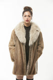 1970's Vintage Autumn Haze Mink Fur Fox Collar w/LEATHER Inserts
