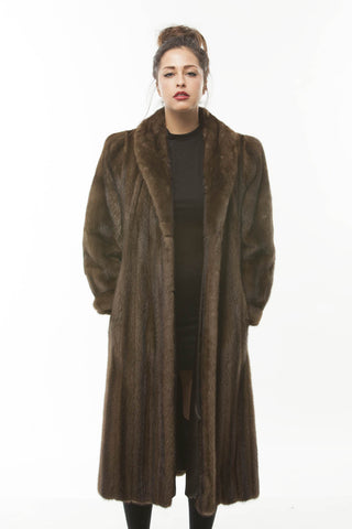 1960's Vintage Brown Lunaraine Full Length Mink Fur