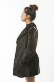 1970's Vintage Ranch Mink Fur Jacket Leather Inserts