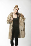 Tan Shearling ASPEN Coat Coyote FUR Trim