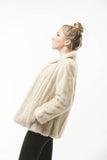 1950's Vintage WHITE Mink FUR Cropped Love Jacket Coat