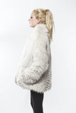 1970's Saga Fox Vintage Blue Feathered Fox Fur Coat